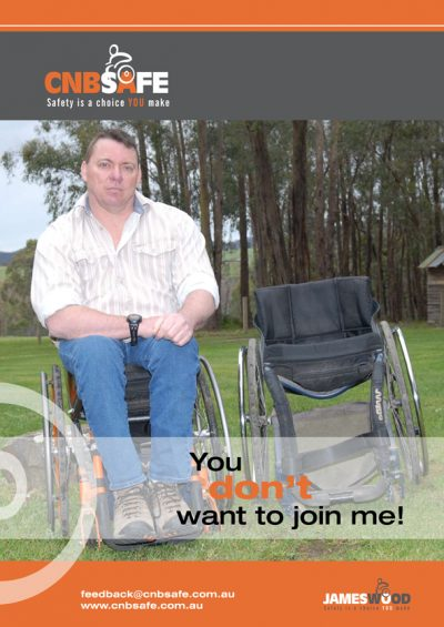 James Wood Wheelchair Poster