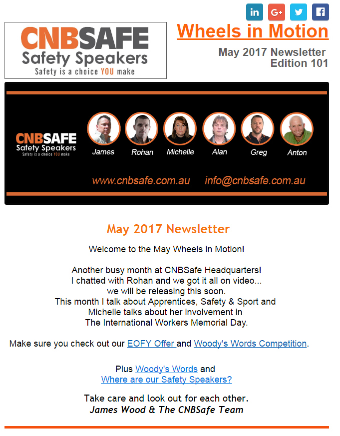 Newsletter may 2017 CNB Safe